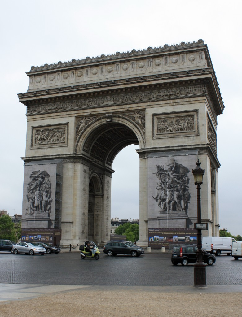 Protip: Instead of trying to walk across the round-about to the Arc de Triumph, take the tunnel below the road.