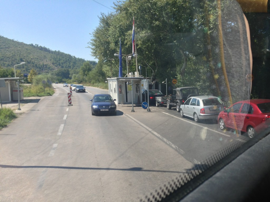 The actual border crossing. There's pretty clear signs saying no pictures, but I took a calculated risk
