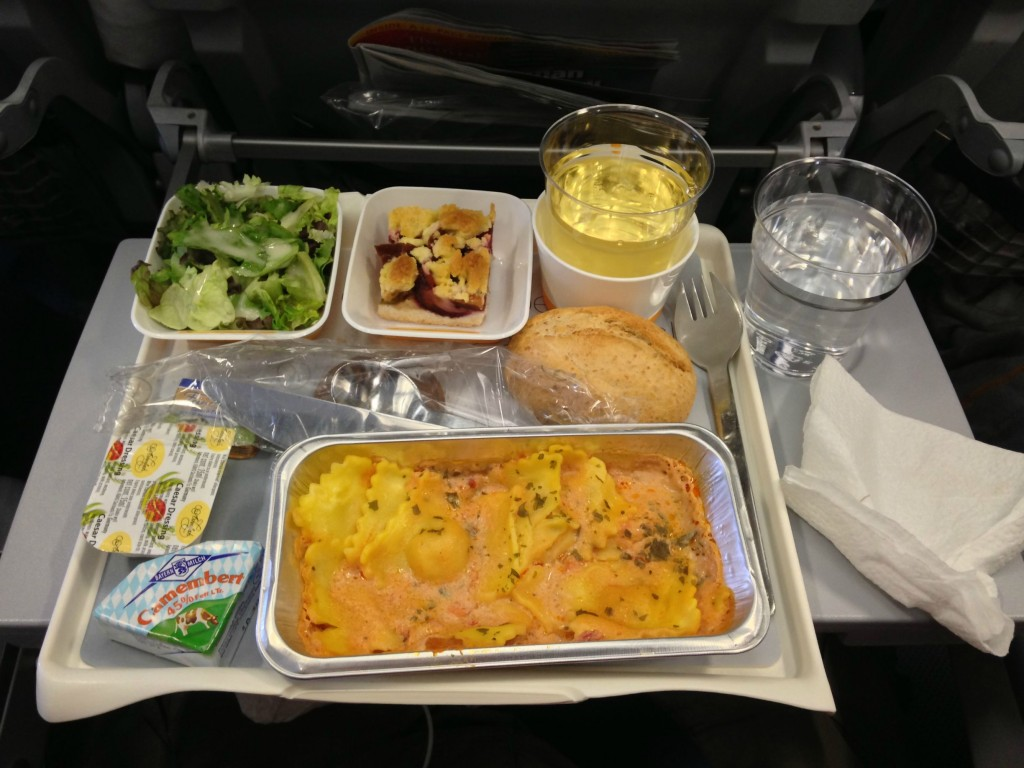 Lufthansa in-flight meal