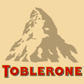 Fun fact: There's a bear hidden in the mountain on Toblerone chocolate packaging
