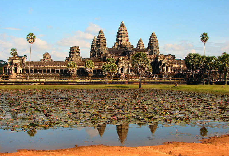 Angkor Wat in Cambodia. Photo credit Bjørn Christian Tørrissen via Wikipedia.