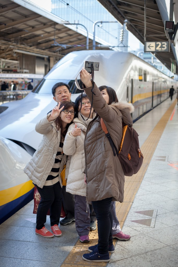 Everyone wants a picture with the shinkansen. I haven't gotten mine - yet.