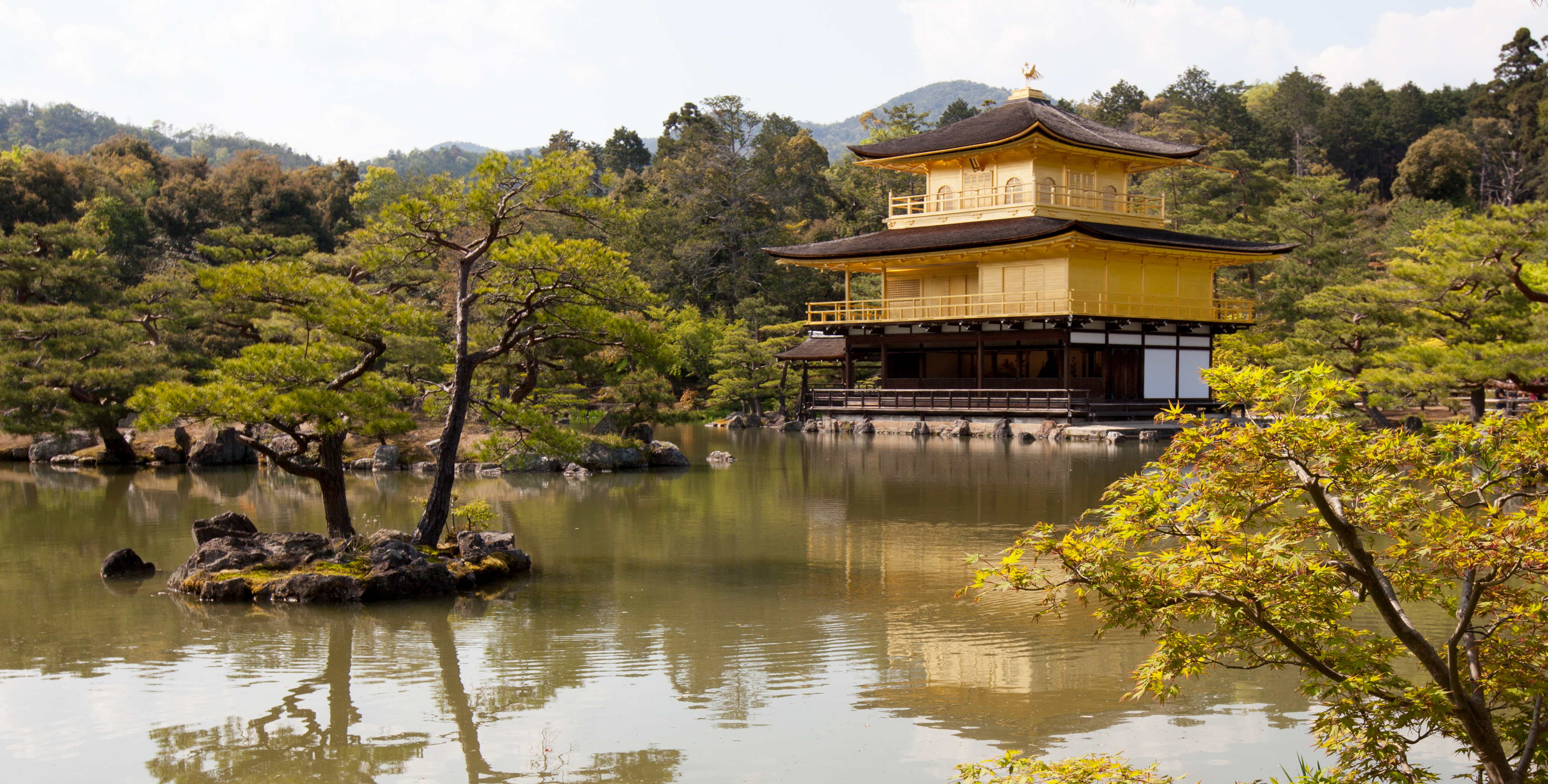 Kyoto Tower and the Golden Pavilion