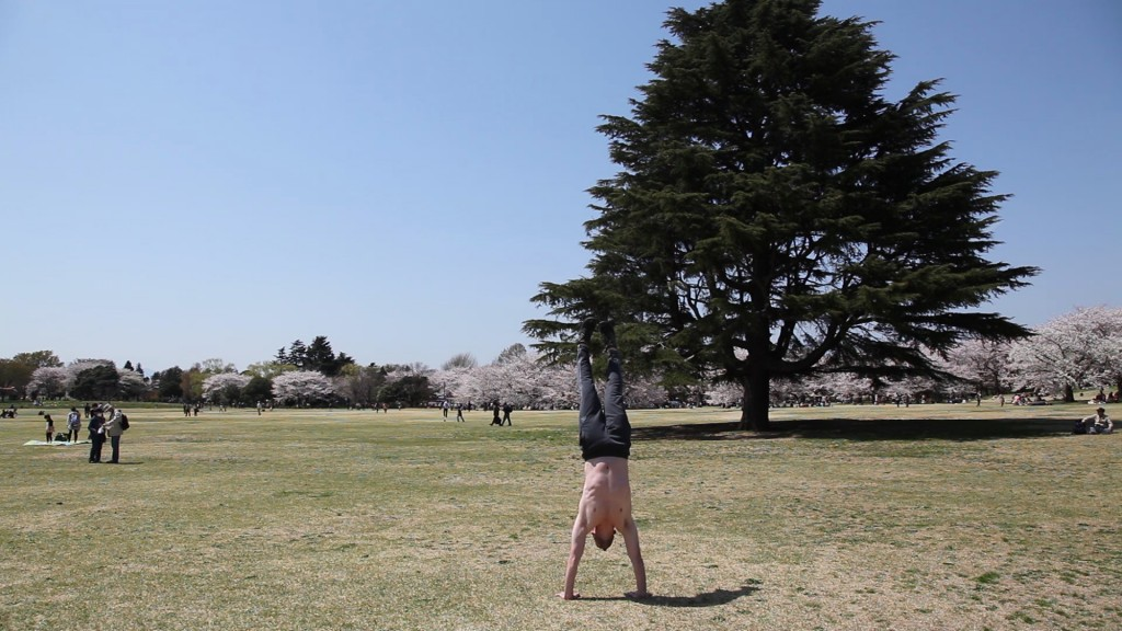 I took advantage of the grass to practice my handstands. A new goal: do a free standing handstand pushup