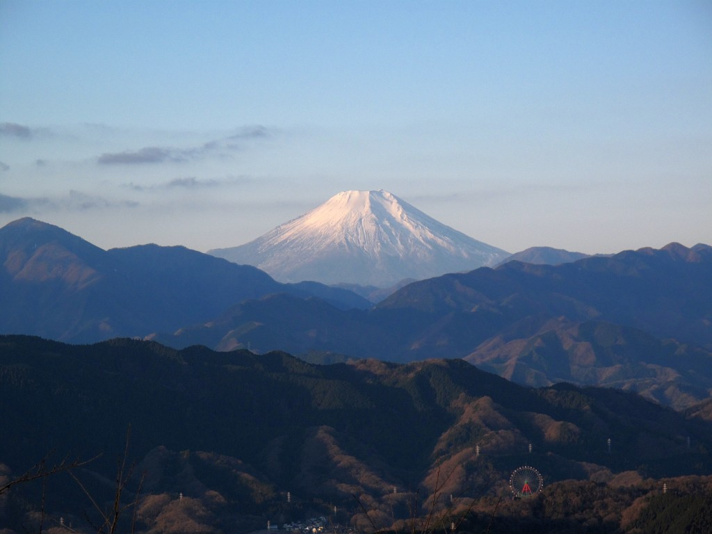 View of Mt. Fuji near the summit of Mt. Takao. Source: Wikipedia